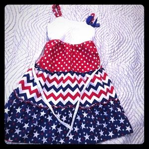 Emily West Stars and Stripes July 4 red white blue